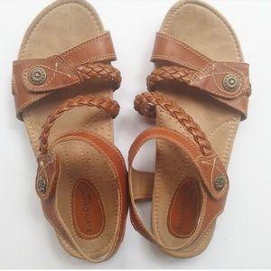 Earth Origins Velcro Leather Gladiator Sandals